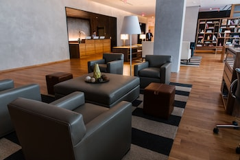 Lobby Sitting Area at The Study Hotel at University City in Philadelphia