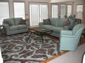 Living Room at Oceanfront Sunset Beach in Sunset Beach