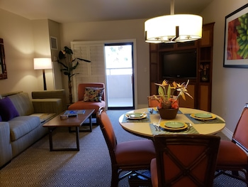 In-Room Dining at Suites at the Tahiti Village in Las Vegas