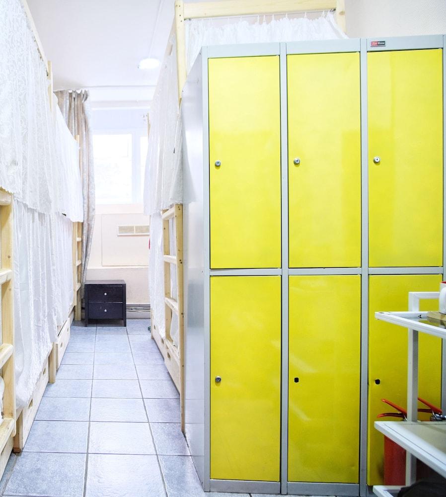 모스크바 숙소 코지 피플 호스텔 도미토리룸 보관함