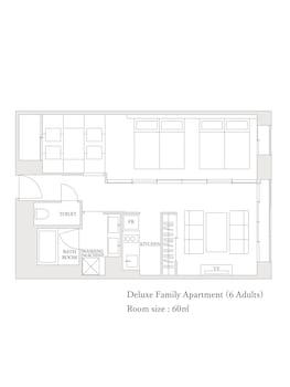MIMARU KYOTO SHINMACHI SANJO Floor plan