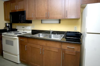 In-Room Kitchen at Units at Holiday Inn Pavilion by Elliott Beach Rentals in Myrtle Beach