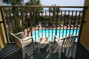 Balcony at Units at Holiday Inn Pavilion by Elliott Beach Rentals in Myrtle Beach