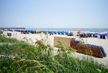 Beach at Units at Sandy Beach Resort by Elliott Beach Rentals in Myrtle Beach