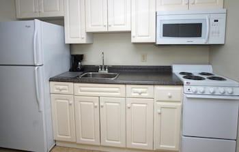 In-Room Kitchen at Units at Sandy Beach Resort by Elliott Beach Rentals in Myrtle Beach