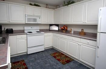 In-Room Kitchen at Sea Island Villas by Elliott Beach Rentals in North Myrtle Beach