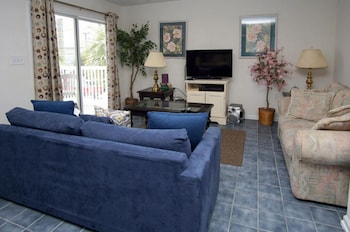 Living Room at Sea Island Villas by Elliott Beach Rentals in North Myrtle Beach