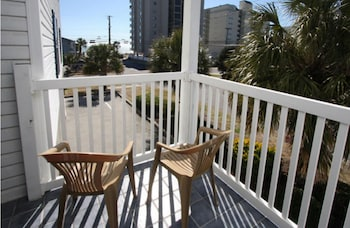 Balcony at Sea Island Villas by Elliott Beach Rentals in North Myrtle Beach