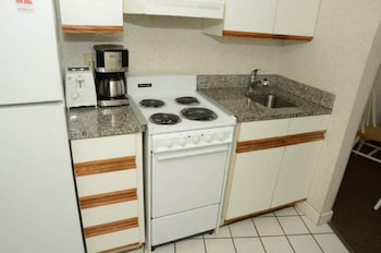 In-Room Kitchenette at Units at St. Clements at Caravelle by Elliott Beach Rentals in Myrtle Beach