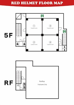 RED HELMET HOUSE&SPORTS CAFÉ BAR HIROSHIMA - HOSTEL Floor plan