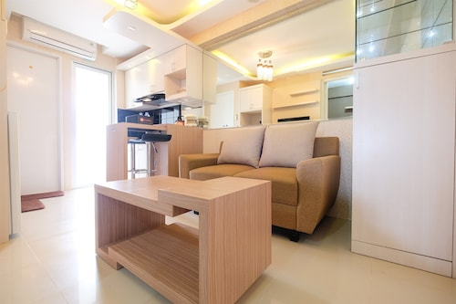 Modern Minimalist 2 Bedrooms at Bassura City Apartment By Travelio, Jakarta Timur