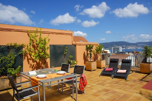 . Penthouse in Vigo Center With Private Terrace and Sea Views, Wifi