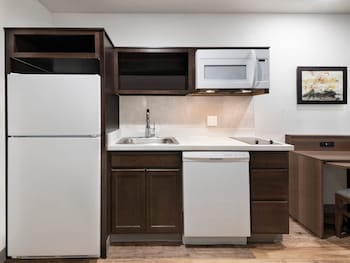 In-Room Kitchen at WoodSpring Suites Washington DC East Arena Drive in Hyattsville