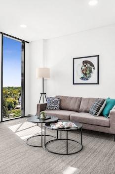 Living Area at Essence Suites Taringa in Taringa