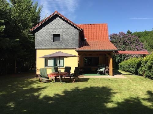 Ferienhaus Mirow-Lärz - Kamin Wald Ruhe, Mecklenburgische Seenplatte