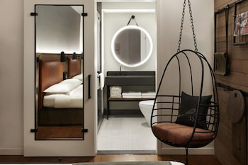 Guestroom at Moxy NYC Downtown in New York