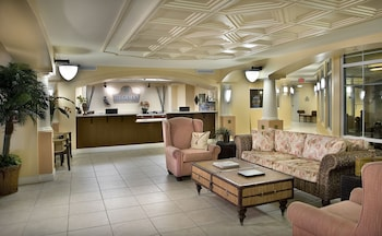 Lobby Sitting Area at Tilghman Beach And Golf Resort in North Myrtle Beach