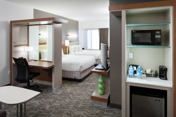 Guestroom at SpringHill Suites by Marriott Orlando at SeaWorld in Orlando