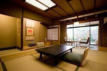 Traditional Sukiya Style Japanese Room with Open Air Bath, Garden Side【52㎡】