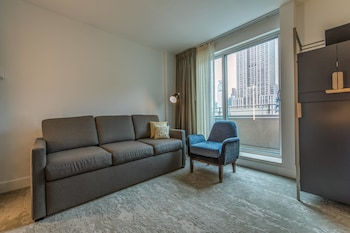 Transitional Studio, Studio, 1 King wall bed, City view