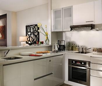 Oakwood Premier Joy Nostalg Center Manila In-Room Kitchen