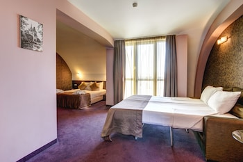 Junior Suite, One Double and One Single Bed (15% off in the restaurant)