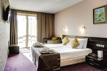 Deluxe, One Double and One Sofa Bed (15% off in the restaurant)