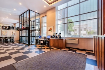 Lobby at Best Western Plus Plaza Hotel in Long Island City