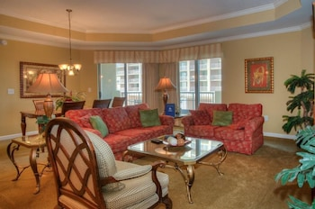 Living Area at Royale Palms 704 in Myrtle Beach