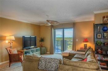 Living Room at Royale Palms 1705 in Myrtle Beach