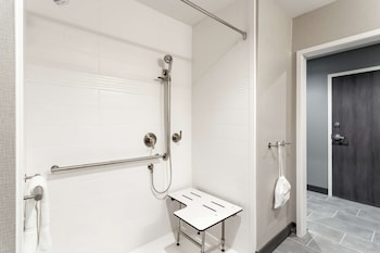 Room, 1 King Bed, Accessible, Refrigerator & Microwave (Roll-In Shower)