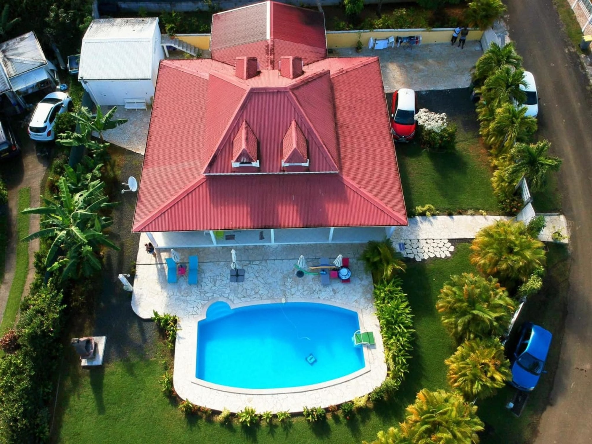 Apartment With 2 Bedrooms in STE Rose, With Wonderful Mountain View, Pool Access, Enclosed Garden - 11 km From the Beach, Sainte-Rose