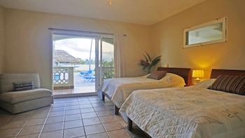 Double Room, 2 Double Beds, Ocean View, Beachfront