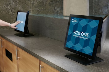 Check-in/Check-out Kiosk at Club Quarters Hotel, World Trade Center in New York