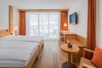 Standard Double Room (Matterhorn View from Balcony)