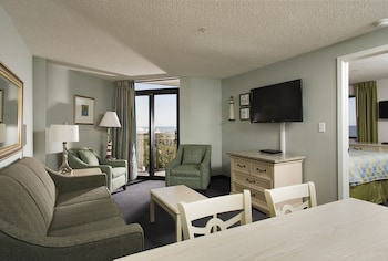 Guestroom at Grande Shores Ocean Resorts Condominiums in Myrtle Beach