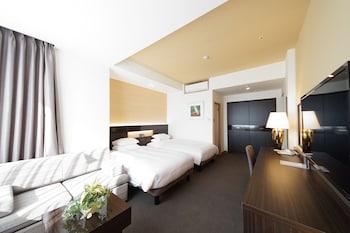 デラックス ツインルーム 2 ベッドルーム コーナー|ホテルリバージュアケボノ
