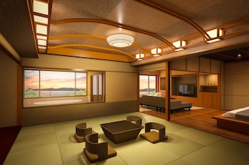 特別室(温泉露天風呂付)|96㎡|びわ湖花街道