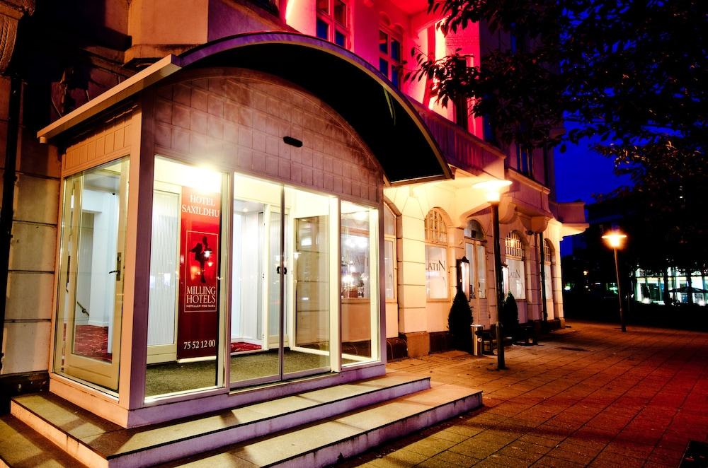 밀링 호텔 삭시드후스 콜딩(Milling Hotel Saxildhus, Kolding) Hotel Image 55 - Hotel Front - Evening/Night