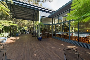 Interior Entrance at Pethers Rainforest Retreat in Tamborine Mountain