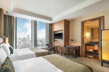 デラックス ルーム ダブルベッド 2 台 禁煙 シティビュー|セント レジス ホテル 大阪