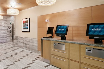 Check-in/Check-out Kiosk at The Jewel facing Rockefeller Center in New York