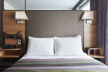 Guestroom at The Jewel facing Rockefeller Center in New York