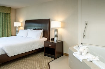 Suite, 1 King Bed with Sofa bed, Accessible (Mobility & Hearing, 3X3 Shower)