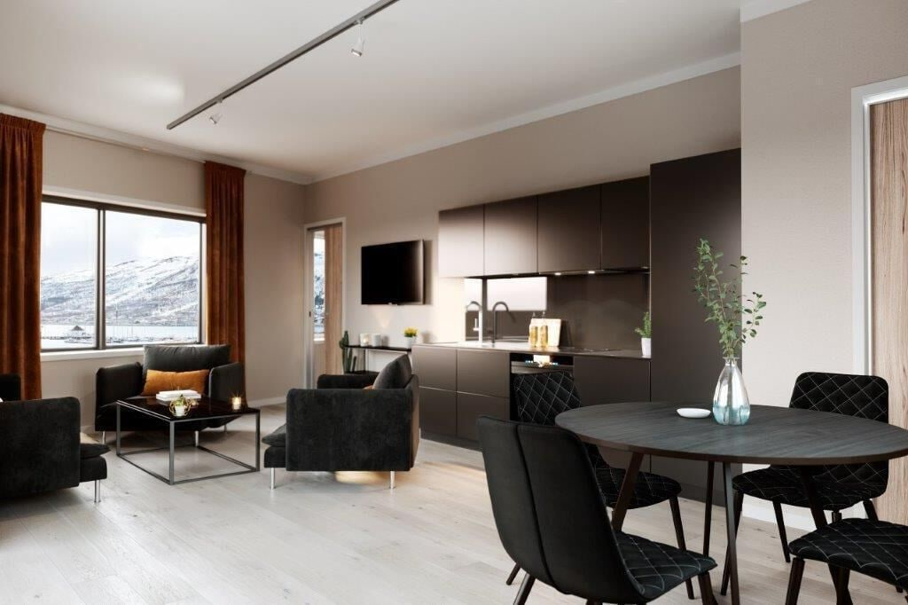 Luxury downtown apartments ap 305, Tromsø