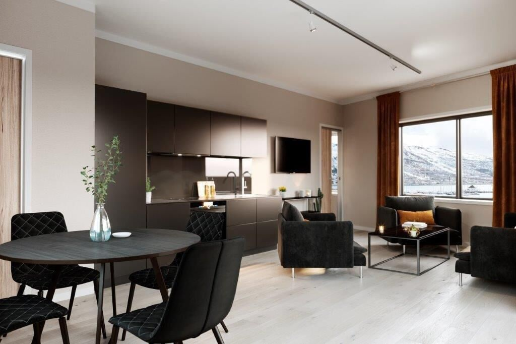 Luxury downtown apartments ap 404, Tromsø
