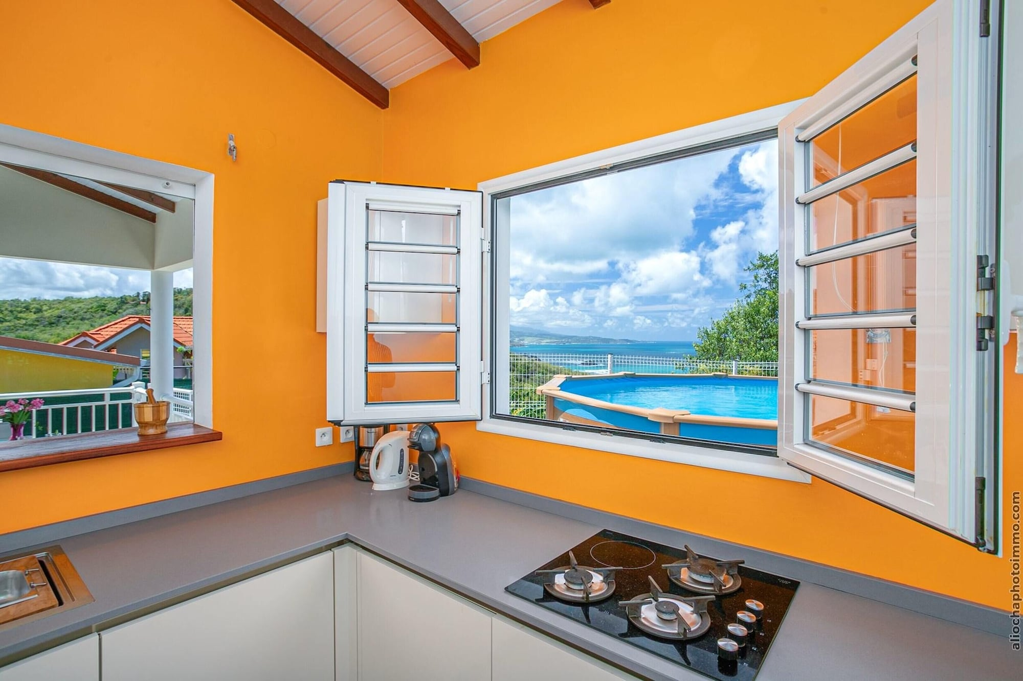 House With 3 Bedrooms in La Trinité, With Wonderful sea View, Private Pool, Enclosed Garden - 2 km From the Beach, La Trinité