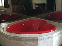 Red Heart Shape Jacuzzi with King Size bed