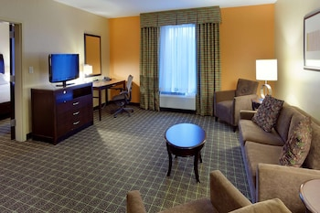 Suite, 1 King Bed, Accessible (Mobility & Hearing, 3X3 Shower)