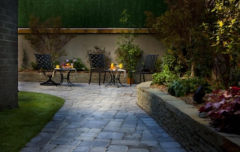 Garden at Condor Hotel in Brooklyn